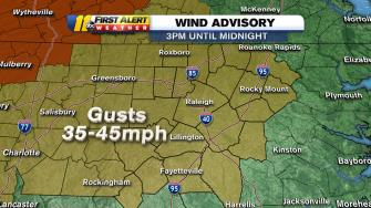 Wind advisory map
