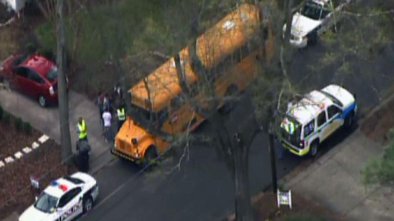 School bus involved in Durham accident