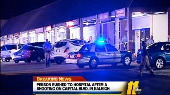 A shooting investigation underway in a strip mall in north Raleigh after one man was injured early Wednesday morning.