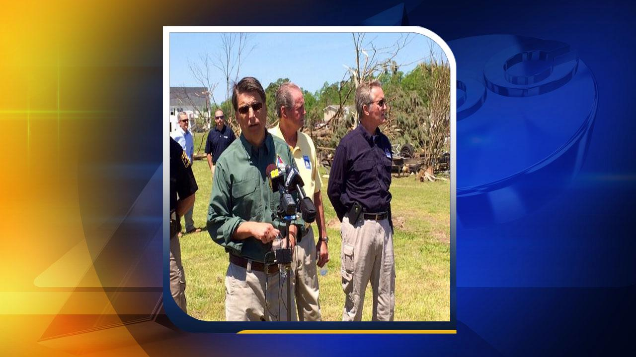 Governor McCrory, storm, damage
