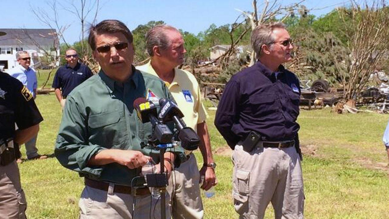 Governor Pat McCrory tours tornado damage
