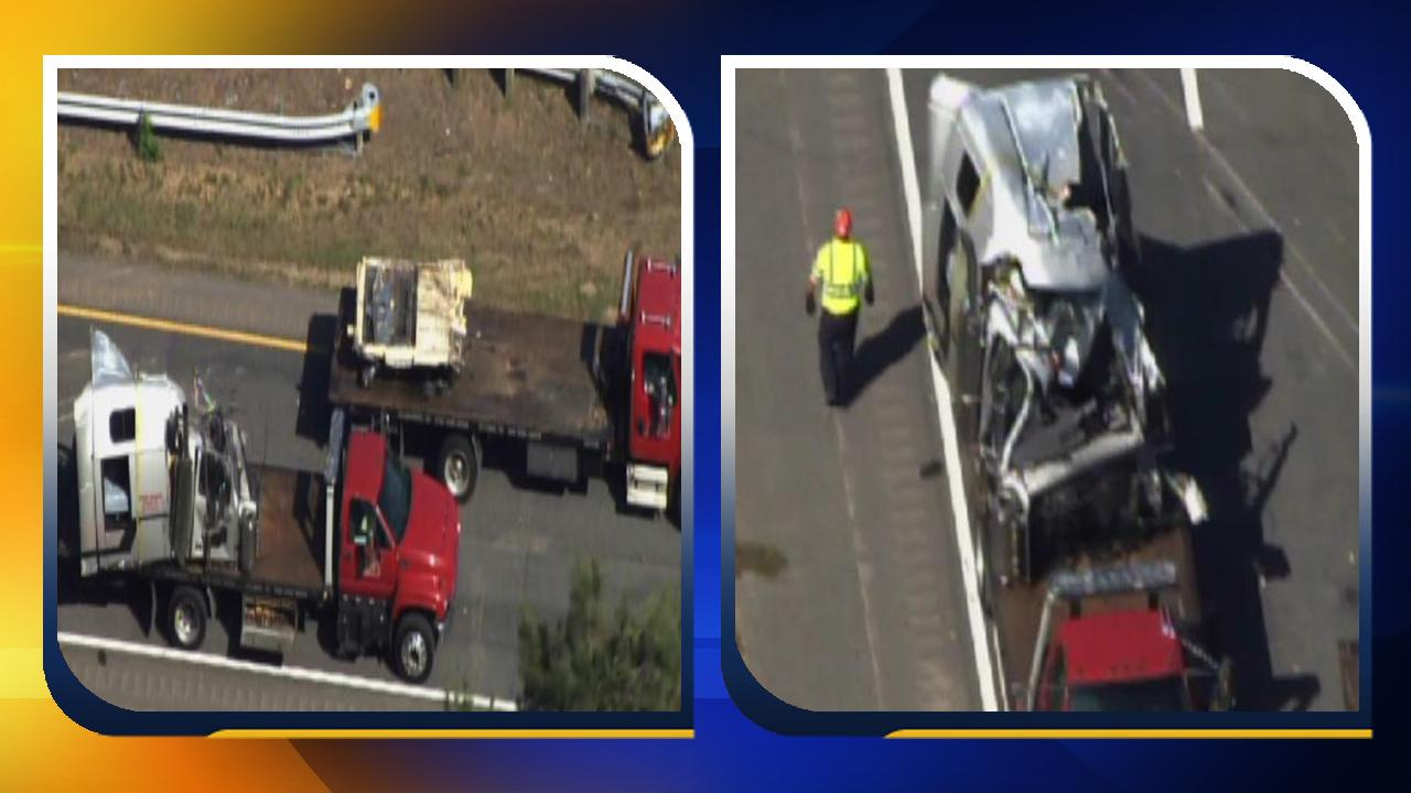 Sources tell ABC11 a tractor trailer and car collided near Middleburg, which is around mile marker 217.