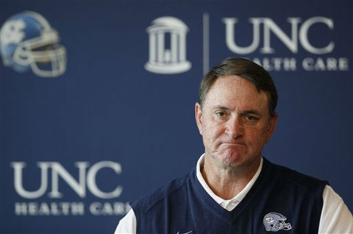 "<div class=""meta ""><span class=""caption-text "">North Carolina football coach Butch Davis responds to questions during NCAA media day in Chapel Hill, N.C., Thursday, Aug. 12, 2010. (AP Photo/ Gerry Broome)</span></div>"