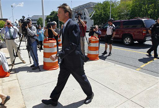 "<div class=""meta ""><span class=""caption-text "">Former presidential candidate and U.S. Sen. John Edwards arrives outside federal court in Greensboro, N.C., Thursday, April 12, 2012. (AP Photo/ Gerry Broome)</span></div>"