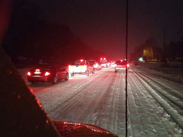 "<div class=""meta ""><span class=""caption-text "">A winter storm snarled traffic and spawned dramatic scenes on roads around central North Carolina Wednesday. Many Good Samaritans and emergency workers came to the rescue of stranded drivers. (WTVD Photo)</span></div>"