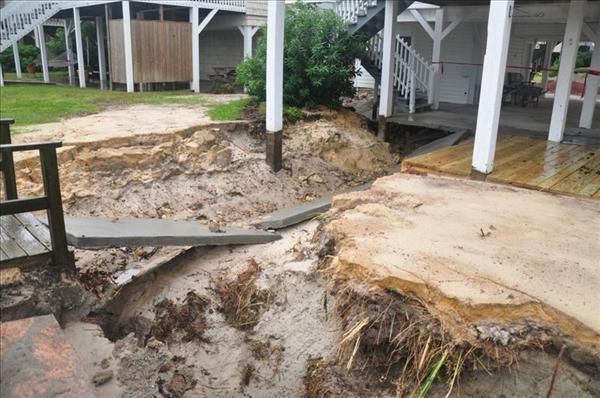 Flooding damage at Ocean Isle Beach <span class=meta>(WTVD Photo&#47; Rene Litalien)</span>