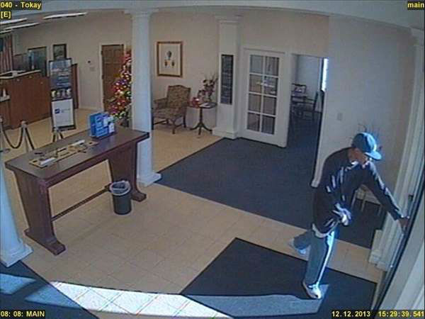 "<div class=""meta image-caption""><div class=""origin-logo origin-image ""><span></span></div><span class=""caption-text"">Police say a man walked into the First Citizens Branch in the 3600 block of Ramsey Road in Fayetteville around 3:30 p.m. Thursday. (Photo/Fayetteville Police Department)</span></div>"