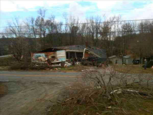 "<div class=""meta ""><span class=""caption-text "">Possible tornado kills 2 and damages homes in Davidson County (Photo/ABC11 Reporter Alina Machado)</span></div>"
