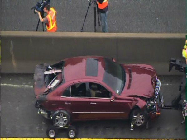"<div class=""meta ""><span class=""caption-text "">A multi-car pileup on I-40 east blocked all lanes of the interstate near the NC 55 exit. At least one vehicle caught fire. (WTVD Photo)</span></div>"
