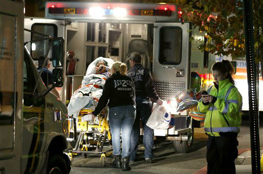 "<div class=""meta ""><span class=""caption-text "">A Hoboken University Medical Center patient is transported into an ambulance during a mandatory evacuation of all ground floor units in anticipation of incoming Hurricane Sandy, Sunday, Oct. 28, 2012, in Hoboken, N.J.  (AP Photo/ Julio Cortez)</span></div>"
