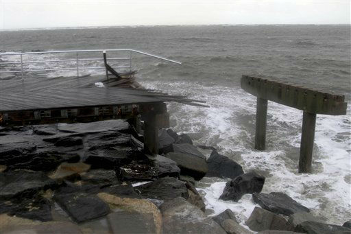 Large stretches of boardwalk were destroyed by Storm Sandy in Atlantic City, N.J., Tuesday, Oct. 30, 2012.   <span class=meta>(AP Photo&#47; Seth Wenig)</span>