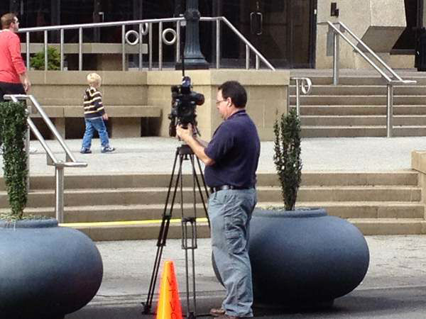 Behind the scenes covering the parade with ABC11. <span class=meta>(WTVD Photo&#47; Patti Hartin)</span>