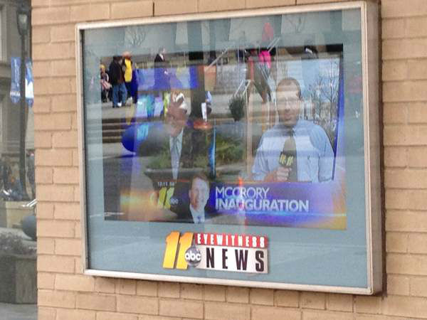 "<div class=""meta ""><span class=""caption-text "">Behind the scenes covering the parade with ABC11. (WTVD Photo/ Patti Hartin)</span></div>"