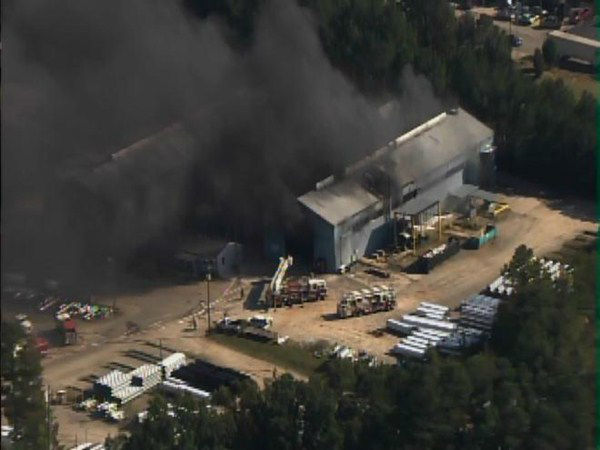 "<div class=""meta ""><span class=""caption-text "">Fire burns at Contech Construction Products at Edwards Mill and Chapel Hill roads in Raleigh. (WTVD Photo)</span></div>"