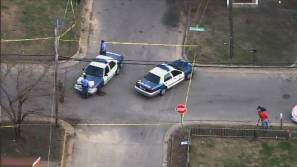 Police and emergency workers responded to Tipton and Coleman streets for a reported shooting Thursday afternoon. <span class=meta>(WTVD Photo)</span>