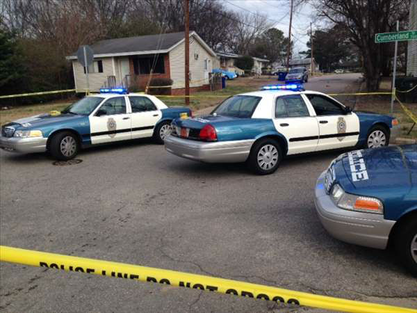 Police and emergency workers responded to Tipton and Coleman streets for a reported shooting Thursday afternoon.