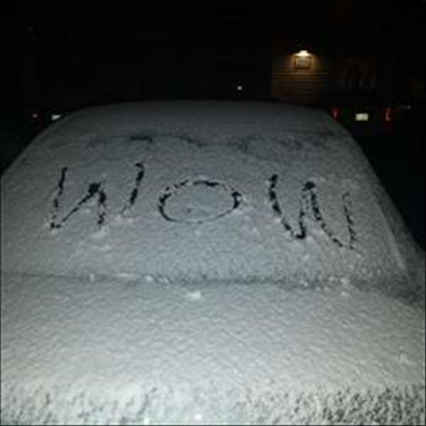 Snow falls across central North Carolina.  <span class=meta>(WTVD Photo&#47; ABC11 user submitted image&#41;)</span>