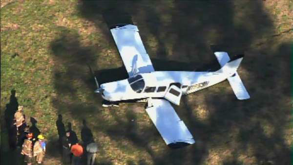 "<div class=""meta ""><span class=""caption-text "">Police and rescue crews were called to a small plane crash in Sanford Wednesday afternoon near the Sanford-Lee County Regional Airport. (WTVD Photo)</span></div>"