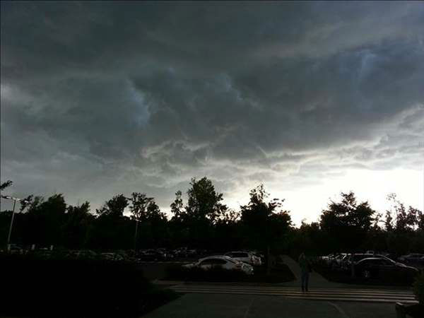 ABC11 viewers sent in photos from storms moving in across the viewing area Thursday evening <span class=meta>(WTVD Photo&#47; ABC11 UReport Photos)</span>