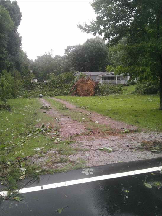 Damage in Bunn. <span class=meta>(WTVD&#47;UReport Photo)</span>