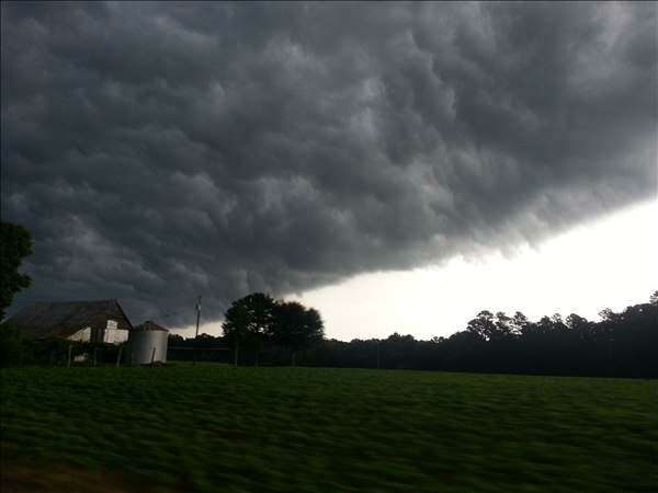 A line of storms brought downpours and lightning in parts of the Triangle Wednesday. <span class=meta>(WTVD Photo&#47; UReport photos)</span>