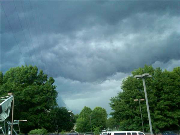 "<div class=""meta ""><span class=""caption-text "">A line of storms brought downpours and lightning in parts of the Triangle Wednesday. (WTVD Photo/ UReport photos)</span></div>"