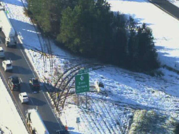 Slick roads led to multiple crashes around the Triangle. <span class=meta>(WTVD Photo)</span>