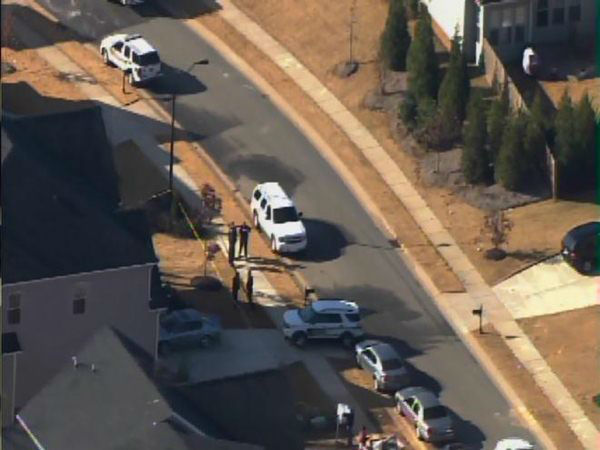 Police investigate a shooting in Holly Springs Monday. <span class=meta>(WTVD Photo)</span>
