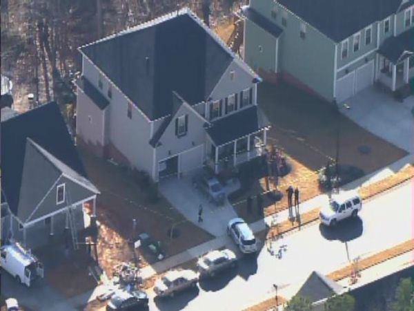 "<div class=""meta ""><span class=""caption-text "">Police investigate a shooting in Holly Springs Monday. (WTVD Photo)</span></div>"