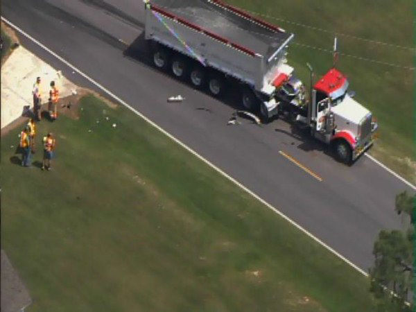 "<div class=""meta image-caption""><div class=""origin-logo origin-image ""><span></span></div><span class=""caption-text"">A car and a semi-truck collided on NC 242 south of Benson Thursday morning. (WTVD Photo)</span></div>"