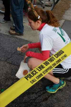 Over 7,700 people turned out for the five mile run and dozen doughnut challenge