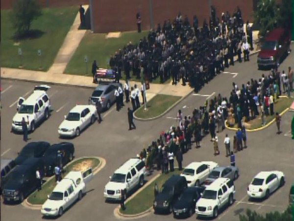 Officer Jeremiah Goodson was laid to rest with full honors in Lumberton. <span class=meta>(WTVD Photo)</span>