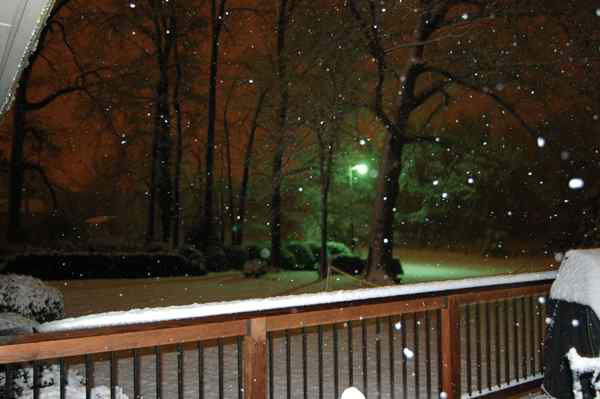 January snow photo from ABC11 viewer <span class=meta>(WTVD Photo&#47; uReport user submitted image)</span>