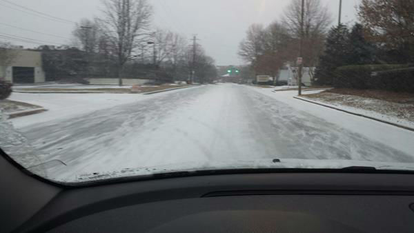 Snow falls in North Carolina. <span class=meta>(WTVD Photo&#47; ABC11 viewer submitted image.)</span>
