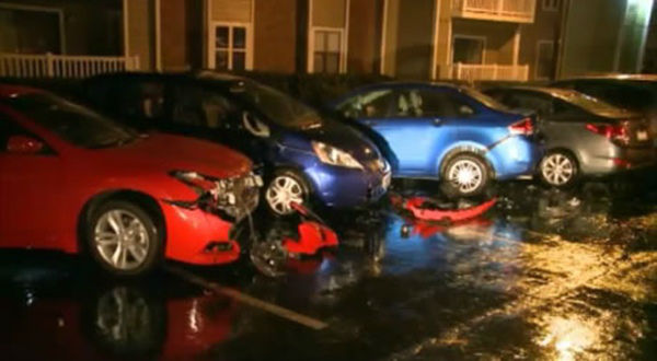 "<div class=""meta image-caption""><div class=""origin-logo origin-image ""><span></span></div><span class=""caption-text"">Residents of a Durham apartment complex woke up Friday morning to find an unfortunate surprise when went out to their cars.</span></div>"