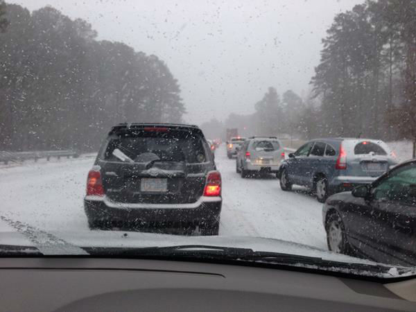 Snow in North Carolina. <span class=meta>(WTVD Photo&#47; ABC11 viewer submitted photo)</span>