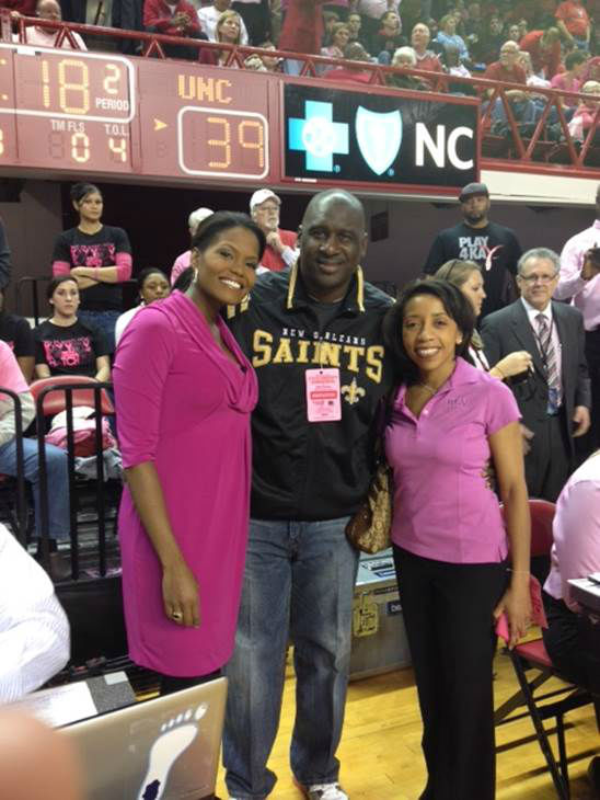 "<div class=""meta image-caption""><div class=""origin-logo origin-image ""><span></span></div><span class=""caption-text"">A special basketball game took place at NC State Sunday afternoon. The event raises awareness about breast cancer, something very close to the Wolfpack nation. Head women's basketball coach Kay Yow died from the disease in 2009. Our own Tisha Powell had the privilege of serving as the emcee. Money raised from ticket sales and a silent auction went to support the Kay Yow Cancer Fund, which works to fund research to find a cure.  (WTVD Photo/ Tommy Harris)</span></div>"