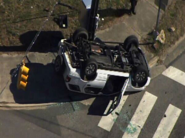 A school bus was involved in a crash in Durham. <span class=meta>(WTVD Photo)</span>