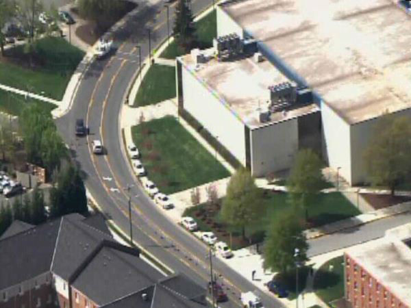 Police search on the campus of North Carolina A&#38;T Friday <span class=meta>(WTVD Photo)</span>