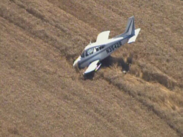 A single-engine plane went down in a Granville County field Thursday morning. <span class=meta>(WTVD Photo)</span>