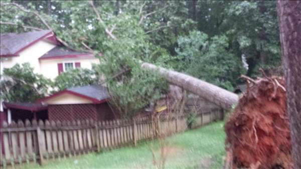 ABC11 viewers sent in photos from storms moving in across the viewing area Thursday evening. <span class=meta>(WTVD Photo&#47; uReport ABC11 viewer submitted image)</span>