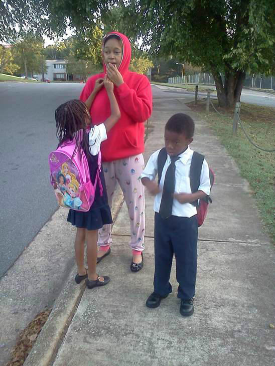 Back to school photo submitted to uReport. <span class=meta>(WTVD Photo)</span>