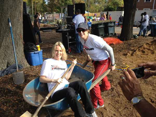 ABC11 staffers joined dozens of community volunteers to build a new playground for children at Durham's Oakwood Avenue Park.