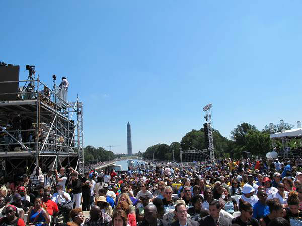 "<div class=""meta ""><span class=""caption-text "">Photo from the 50th Anniverary of Dr. Martin Luther King's speech at the March on Washington courtesy of Congressman G. K. Butterfield. (WTVD Photo)</span></div>"
