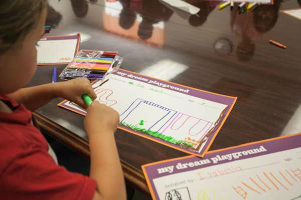 "<div class=""meta ""><span class=""caption-text "">The playground?s design is based on drawings by children who participated in a Design Day event in September.  (WTVD Photo)</span></div>"