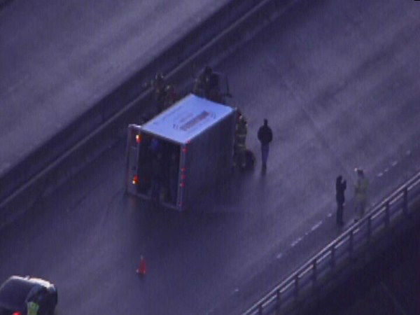 Accidents were reported across the Triangle Friday morning as roads froze. <span class=meta>(WTVD Photo)</span>