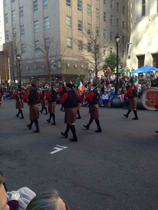 St. Patrick&#39;s Day celebrations kicked off in Raleigh Saturday morning. Your favorite weekday morning anchors were in the annual parade. ABC11 also held Match Madness -- Bone Marrow Donor Registration Drive from 12pm to 2pm at Raleigh&#39;s St. Patrick&#39;s Day Parade and Festival. <span class=meta>(WTVD Photo)</span>
