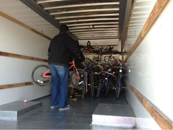 "<div class=""meta image-caption""><div class=""origin-logo origin-image ""><span></span></div><span class=""caption-text"">The wife of Moses Mathis held a bike dropoff in Raleigh Saturday to help continue the tradition of donating bicycles to children.  (WTVD Photo/ Lori Denberg)</span></div>"