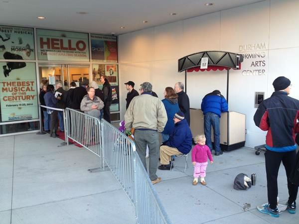 Hundreds waited in line out in freezing temperatures for tickets early Saturday morning <span class=meta>(WTVD Photo&#47; Tommy Harris)</span>
