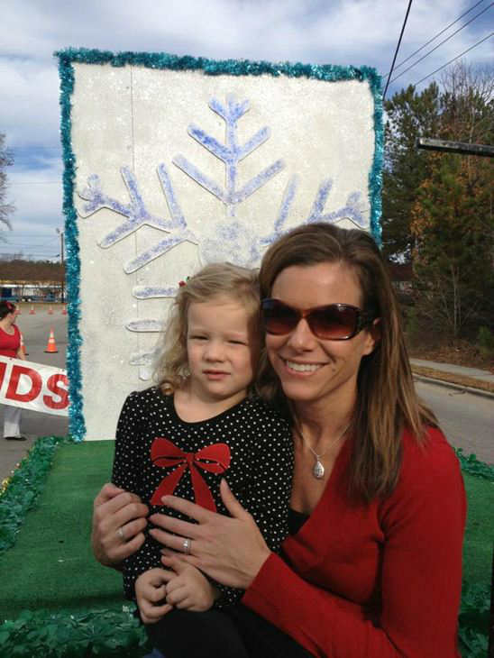 Some of the ABC11 crew participated in the Cary Christmas Parade Saturday.  <span class=meta>(WTVD Photo)</span>